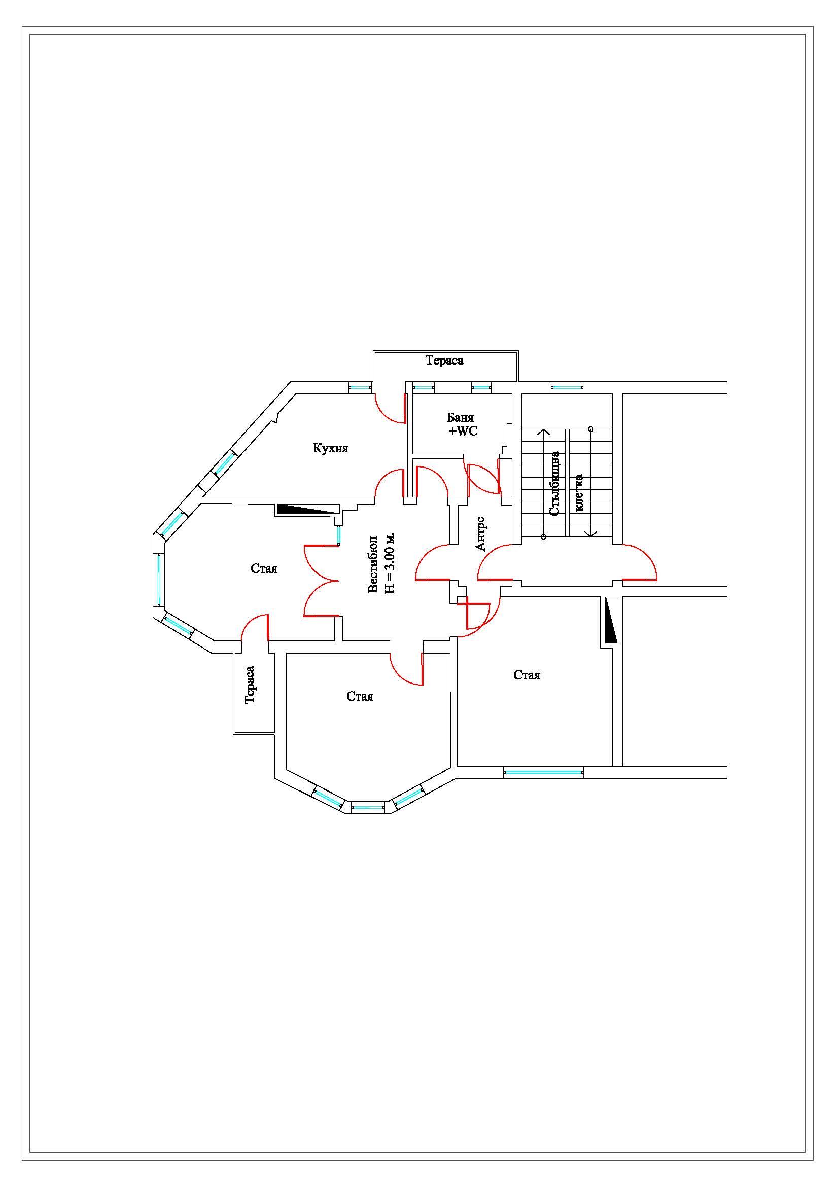 план на помещенията